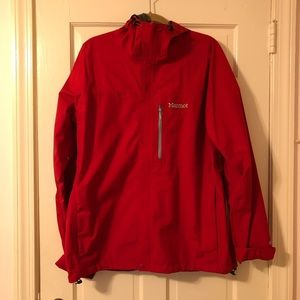 Marmot Red Goretex Windbreaker